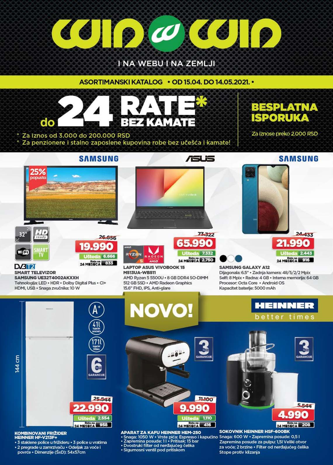 WIN WIN Katalog -  Akcija sniženja do 14.05.2021.