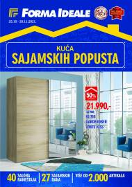 FORMA IDEALE - KUĆA SAJAMSKIH POPUSTA! - Akcija do 20.11.2021.