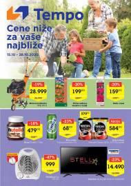 TEMPO Akcija - CENE BLIŽE ZA VAŠE NAJBLIŽE - Super sniženja do 28.10.2020.