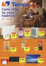 TEMPO Akcija - CENE BLIŽE ZA VAŠE NAJBLIŽE - Super sniženja do 09.12.2020.