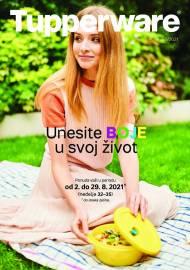 TUPPERWARE Katalog -  UNESITE BOJE U SVOJ ŽIVOT - AKCIJA SNIŽENJA DO 29.08.2021.