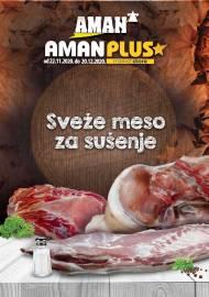 AMAN - AMAN PLUS MARKETI - SVEŽE MESO ZA SUŠENJE - Akcija do 20.12.2020.