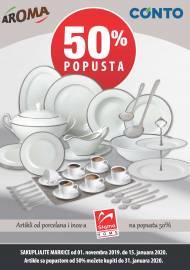 AROMA - CONTO - Artikli od porcelana i inoxa SIGMA HOME Skupljajte markice do 15.01.2020.