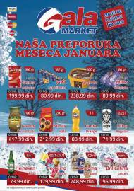 GALA MARKET Katalog - Super akcija do 31.01.2020.