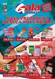 GALA MARKET Katalog - Super akcija do 30.11.2019.