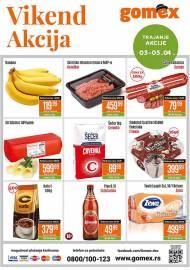 GOMEX VIKEND AKCIJA - Akcija sniženja za 05.04.2020.