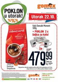GOMEX AKCIJA - POKLON U UTORAK - Akcija za 22.10.2019.