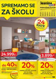 LESNINA Katalog - SPREMAMO SE ZA ŠKOLU - Akcija sniženja do 30.08.2020.