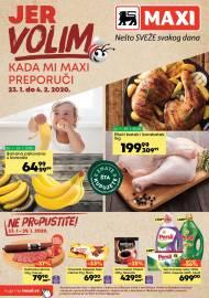 MAXI - JER VOLIM KADA MI MAXI PREPORUČI. Super akcija sniženja do 04.02.2020.