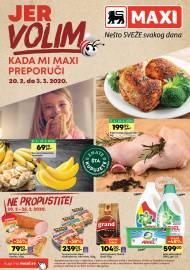 MAXI - JER VOLIM KADA MI MAXI PREPORUČI. Super akcija sniženja do 03.03.2020.