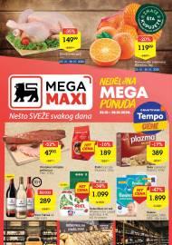 MEGA MAXI - NEDELJNA MEGA PONUDA. Super akcija sniženja do 28.10.2020.