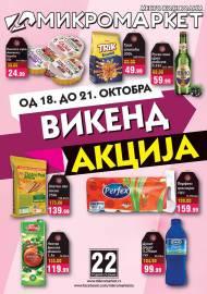 MIKROMARKET - MESTO KOJE VOLIM - VIKEND Akcija do 21.10.2019