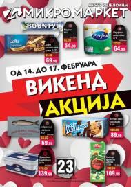 MIKROMARKET - MESTO KOJE VOLIM - VIKEND Akcija do 17.02.2020.
