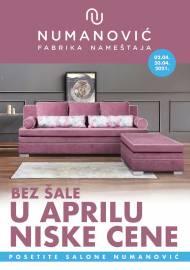 NUMANOVIĆ Katalog - BEZ ŠALE U APRILU NISKE CIJENE! Akcija sniženja do 30.04.2021.