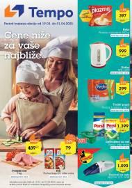 TEMPO Akcija - CENE BLIŽE ZA VAŠE NAJBLIŽE  - Super sniženja do 01.04.2020.