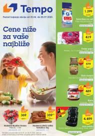TEMPO Akcija - CENE BLIŽE ZA VAŠE NAJBLIŽE - Super sniženja do 08.07.2020.