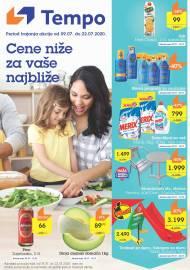 TEMPO Akcija - CENE NIŽE ZA VAŠE NAJBLIŽE - Super sniženja do 22.07.2020.
