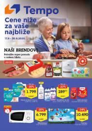 TEMPO Akcija - CENE BLIŽE ZA VAŠE NAJBLIŽE - Super sniženja do 30.09.2020.