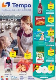 TEMPO Akcija - CENE NIŽE ZA VAŠE NAJBLIŽE  - Super akcija do 05.02.2020.