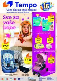 TEMPO Akcija - SVE ZA VAŠE BEBE - CENE BLIŽE ZA VAŠE NAJBLIŽE  - Super sniženja do 27.11.2019.