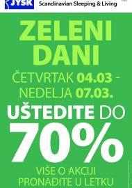 Jysk ponuda - JYSK Katalog - ZELENI DANI UŠTEDITE DO 70%! AKCIJA SNIŽENJA DO 07.03.2021.