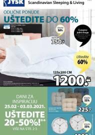 Jysk ponuda - JYSK Katalog - ODLIČNE PONUDE UŠTEDITE DO 60%! AKCIJA SNIŽENJA DO 10.03.2021.