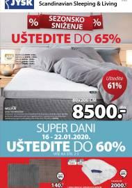 Jysk ponuda - JYSK Katalog - Super akcija od 16.01. DO 29.01.2020.