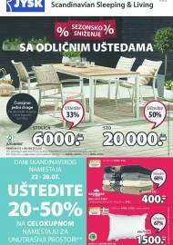 Jysk ponuda - JYSK Katalog - SEZONSKO SNIŽENJE! AKCIJA SNIŽENJA DO 04.08.2021.