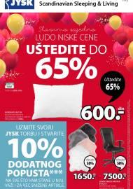 Jysk ponuda - JYSK Katalog - SLAVIMO LUDO NISKE CENE - Akcija sniženja do 07.10.2020
