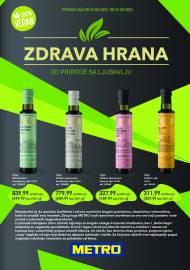 METRO - ZDRAVA HRANA - Akcija do 31.08.2021.