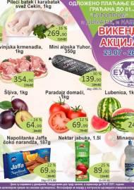 EUROPROM AKCIJA - VIKEND AKCIJA - Akcija sniženja do 26.07.2021.